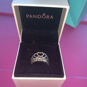 Two Seperate Pandora princess rings!